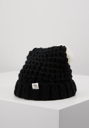 POM BEANIES - Gorro - black/white