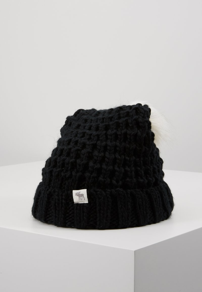 Abercrombie & Fitch - POM BEANIES - Muts - black/white