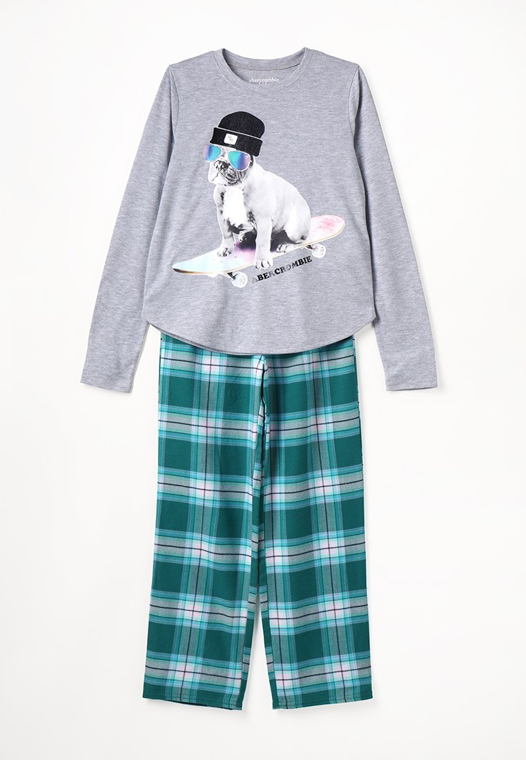 Abercrombie & Fitch - SLEEP - Pyjama set - grey