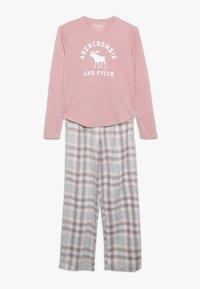 Abercrombie & Fitch - CORE SLEEP  - Pyžamová sada - blush pink/grey - 0