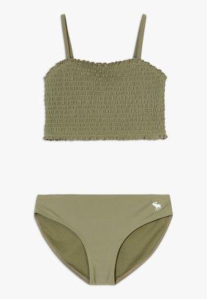SMOCKED SET - Bikini - olive