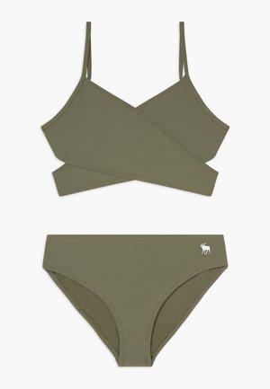WRAP FRONT SET - Bikini - olive