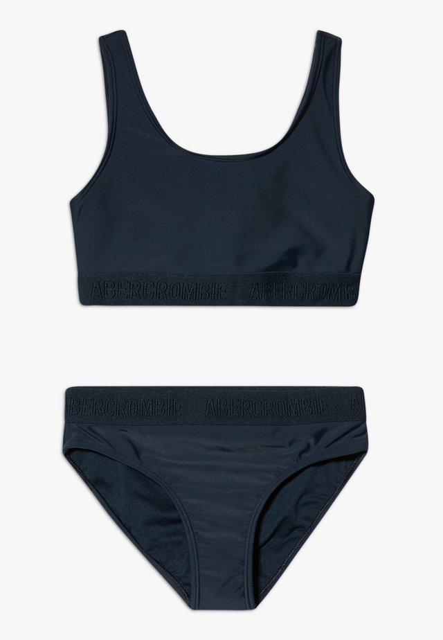 TWIST BAK LOGO SET - Bikini - navy