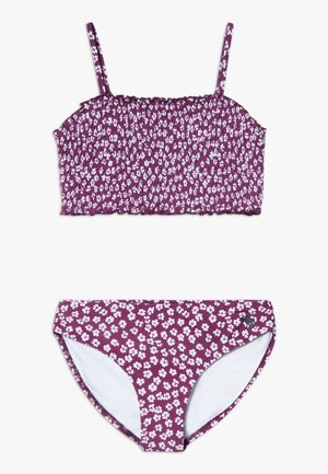 SMOCKED SET - Bikini - purple ditsy