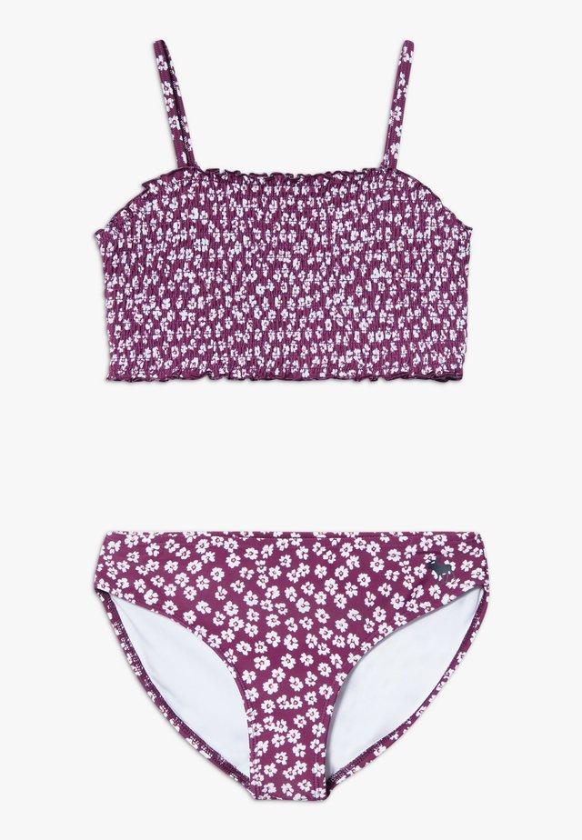 SMOCKED SET - Bikinier - purple ditsy