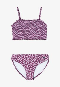 Abercrombie & Fitch - SMOCKED SET - Bikini - purple ditsy - 3