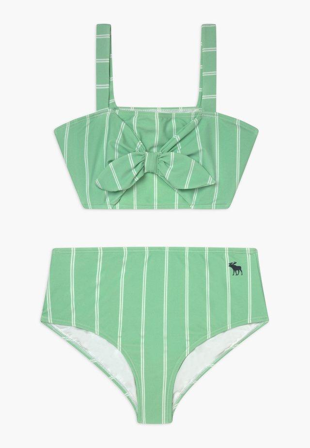 BANDEAU HIGH-WAIST SET - Bikini - mint/white