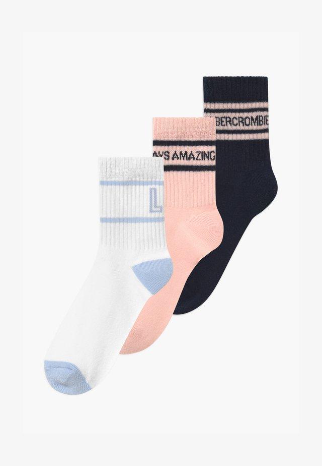 PRETTY 3 PACK - Socks - dark blue/white/light pink