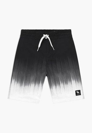 BOARD - Plavky - black/white ombre