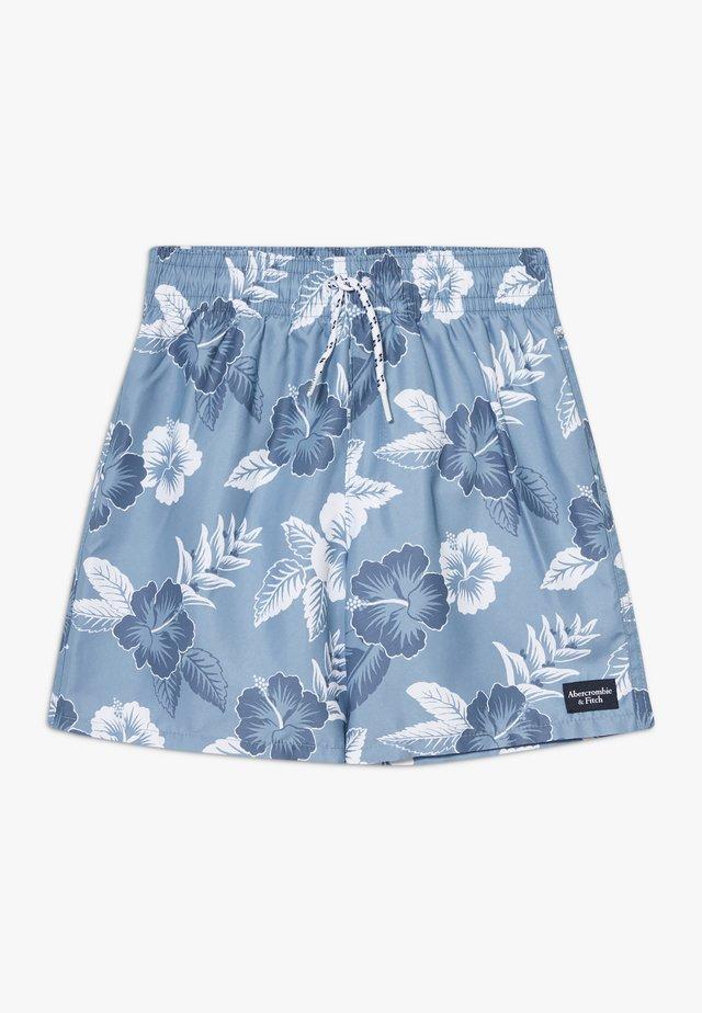 TRUNKS FLORAL - Badeshorts - blue/white