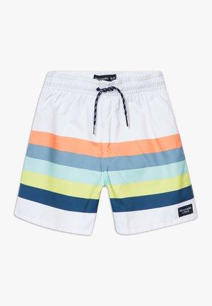 TRUNK MULTICOLOR STRIPE  - Shorts da mare - white