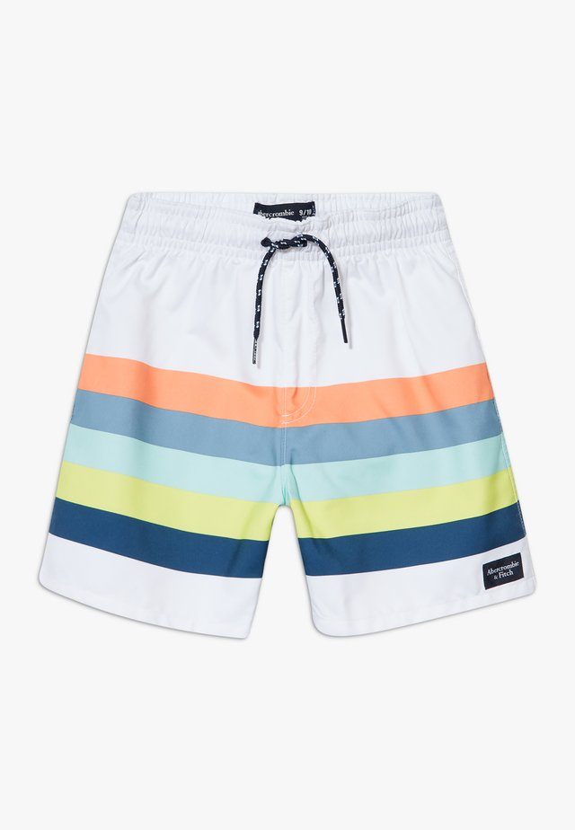 TRUNK MULTICOLOR STRIPE  - Zwemshorts - white