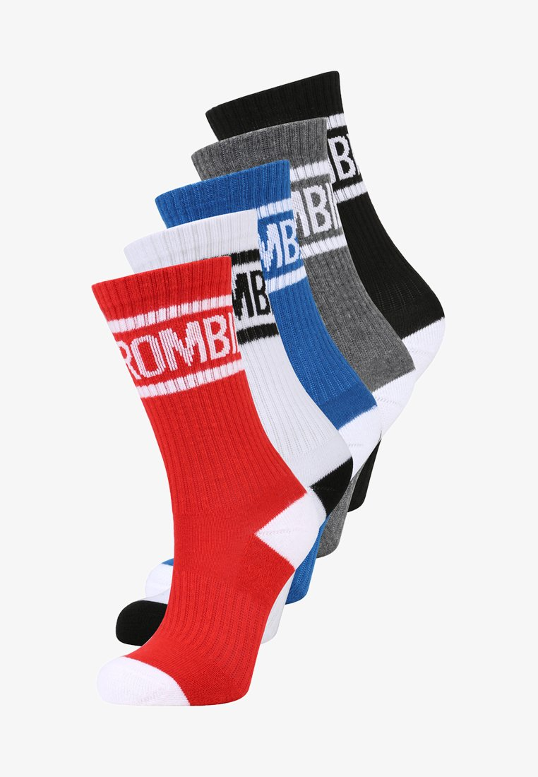 Abercrombie & Fitch - CALF 5 PACK - Sokken - red/blue/neutral assorted