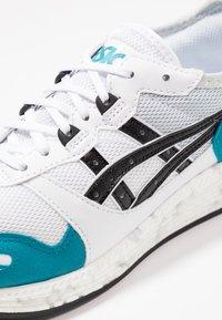 ASICS SportStyle - HYPERGEL-LYTE - Joggesko - white/teal blue - 5