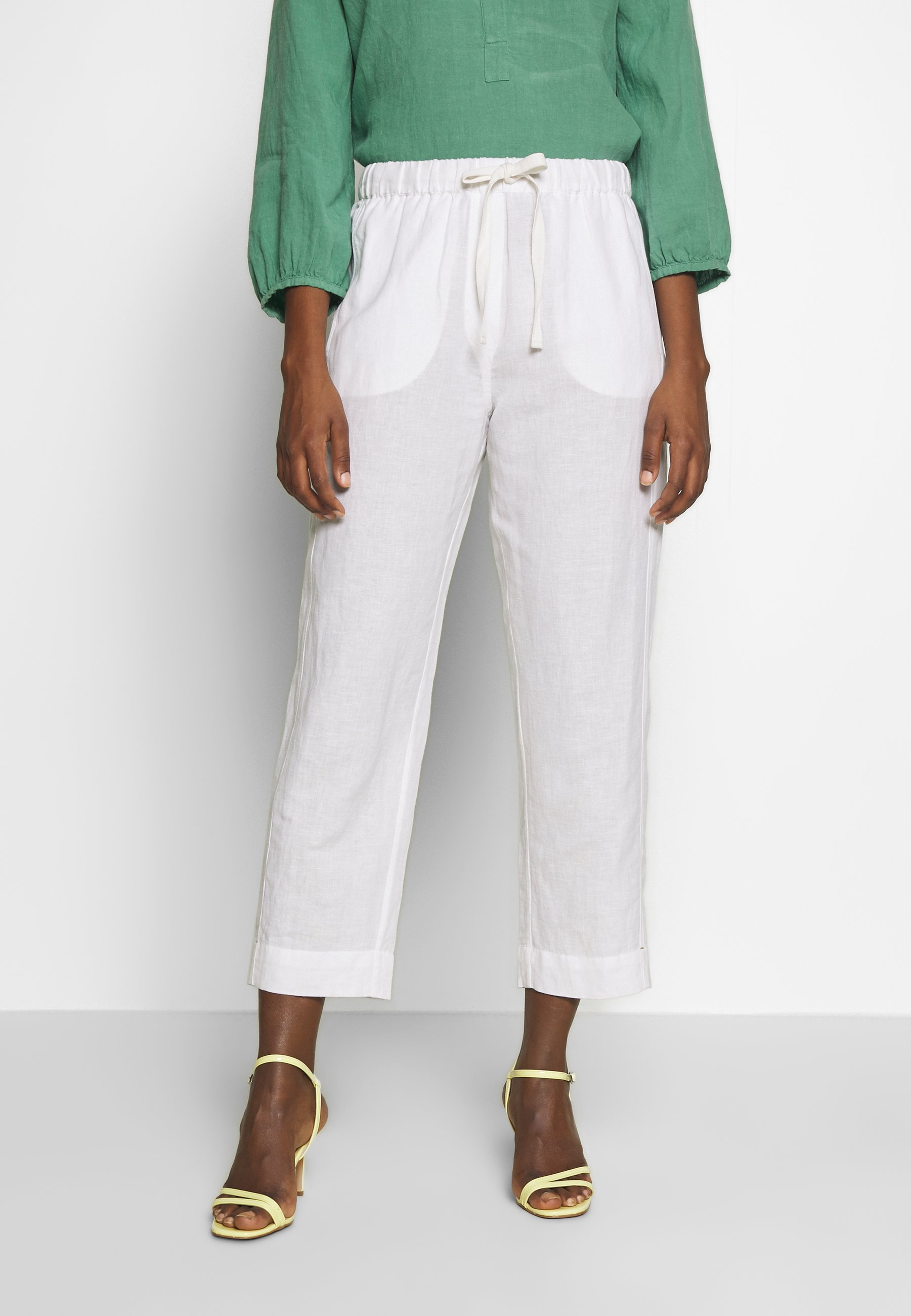 And Less ALMARLEA PANTS - Spodnie materiałowe - brilliant white