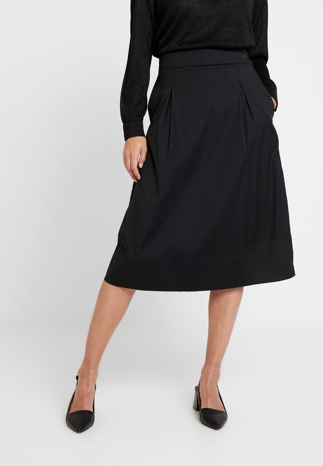 ALIMOLA SKIRT - Spódnica trapezowa - caviar
