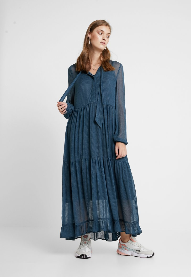 And Less - PANCRA DRESS - Maxikleid - orion blue