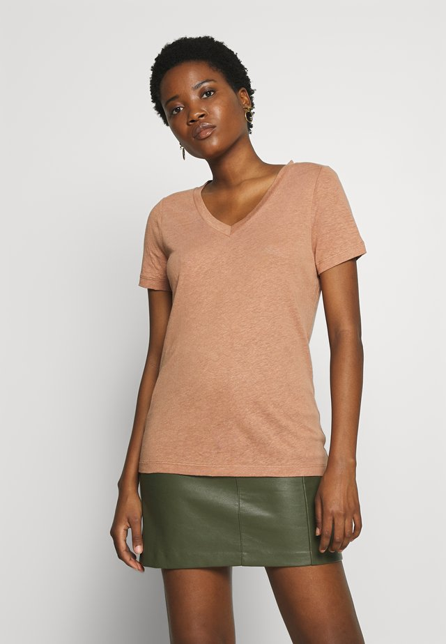 ALORSINO - T-shirt basic - mocha mou