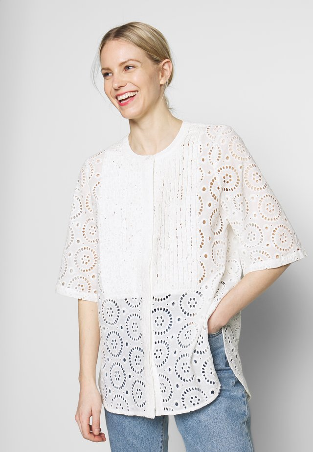 ALNEWS FRANCHES - Blouse - brilliant white