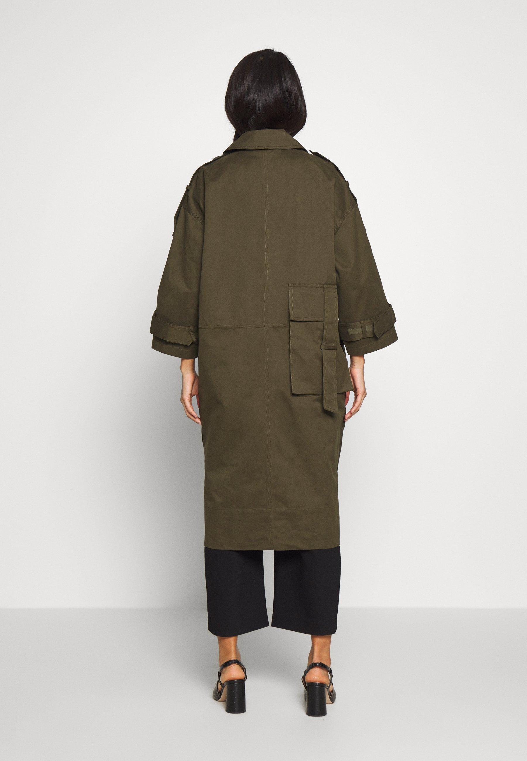 And Less ALMAA JACKET - Płaszcz wełniany /Płaszcz klasyczny - ivy green
