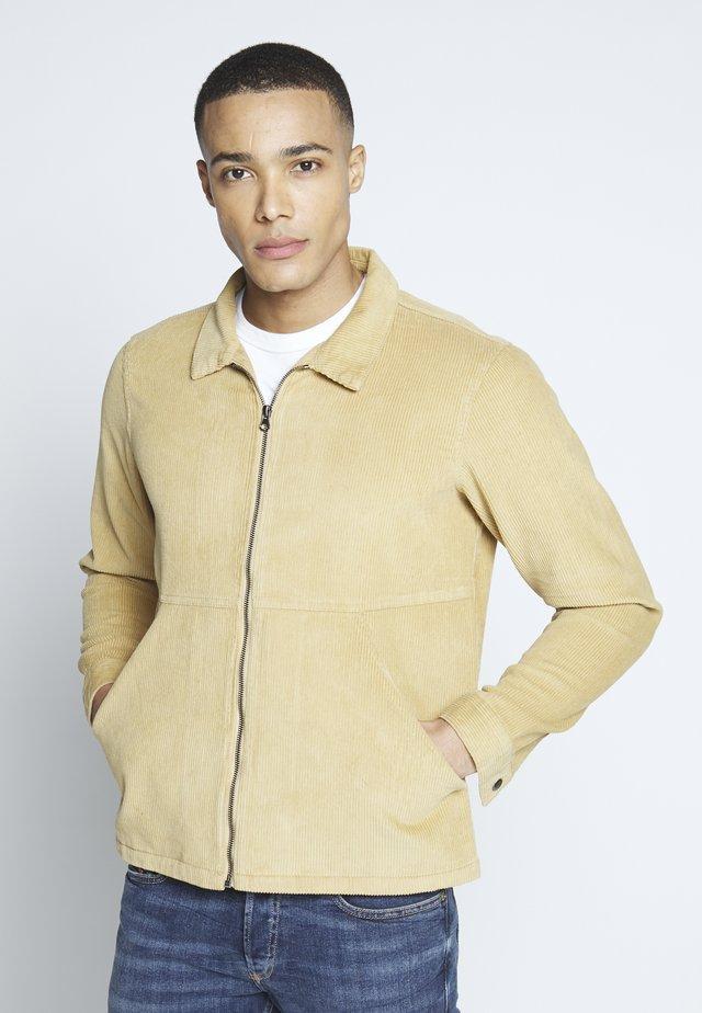 ZIP THROUGH - Shirt - brown