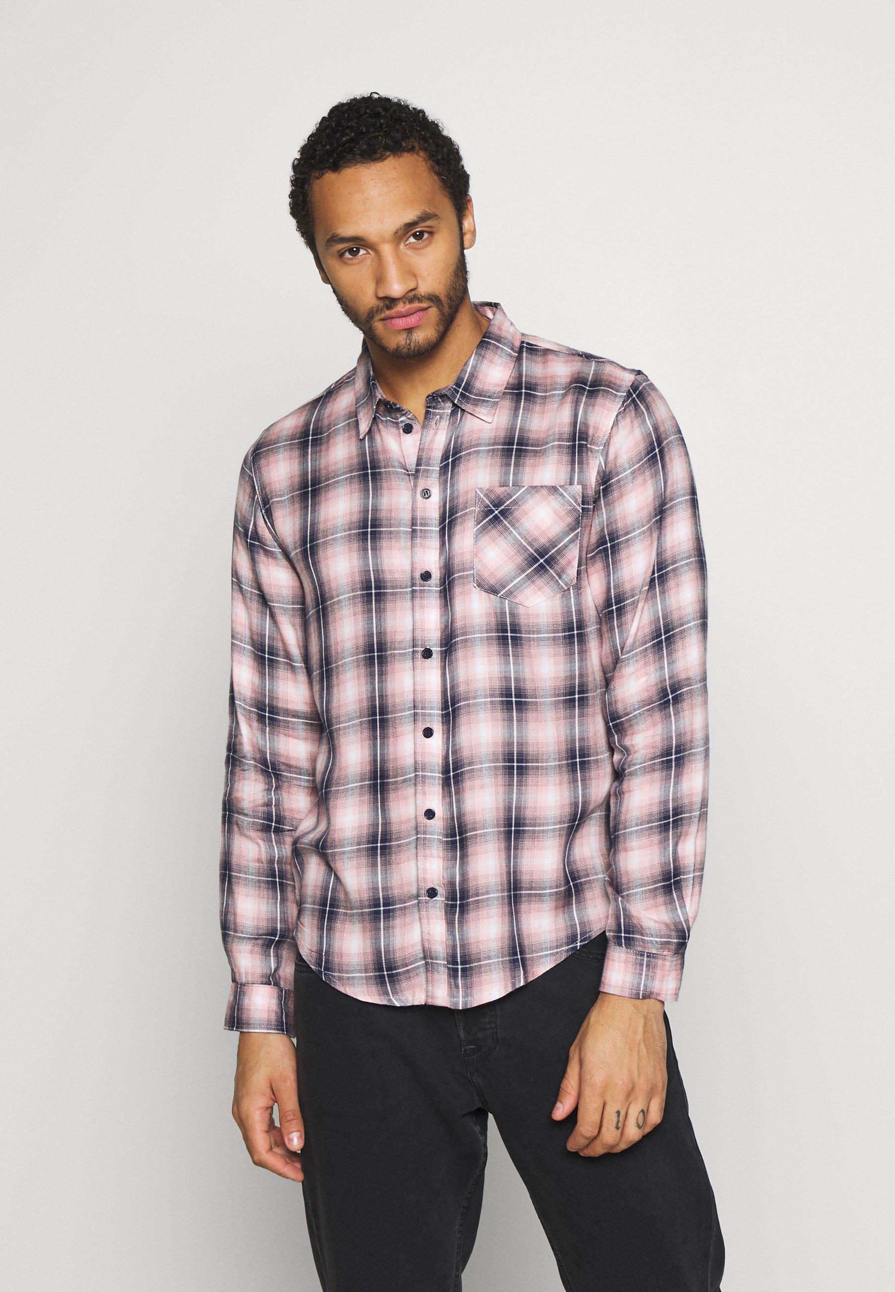 Another Influence LONGSLEEVED CHECK SHIRT - Koszula - blue/pink