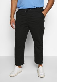 Another Influence - UTILITY PANTS IN PLUS - Cargo trousers - black - 0