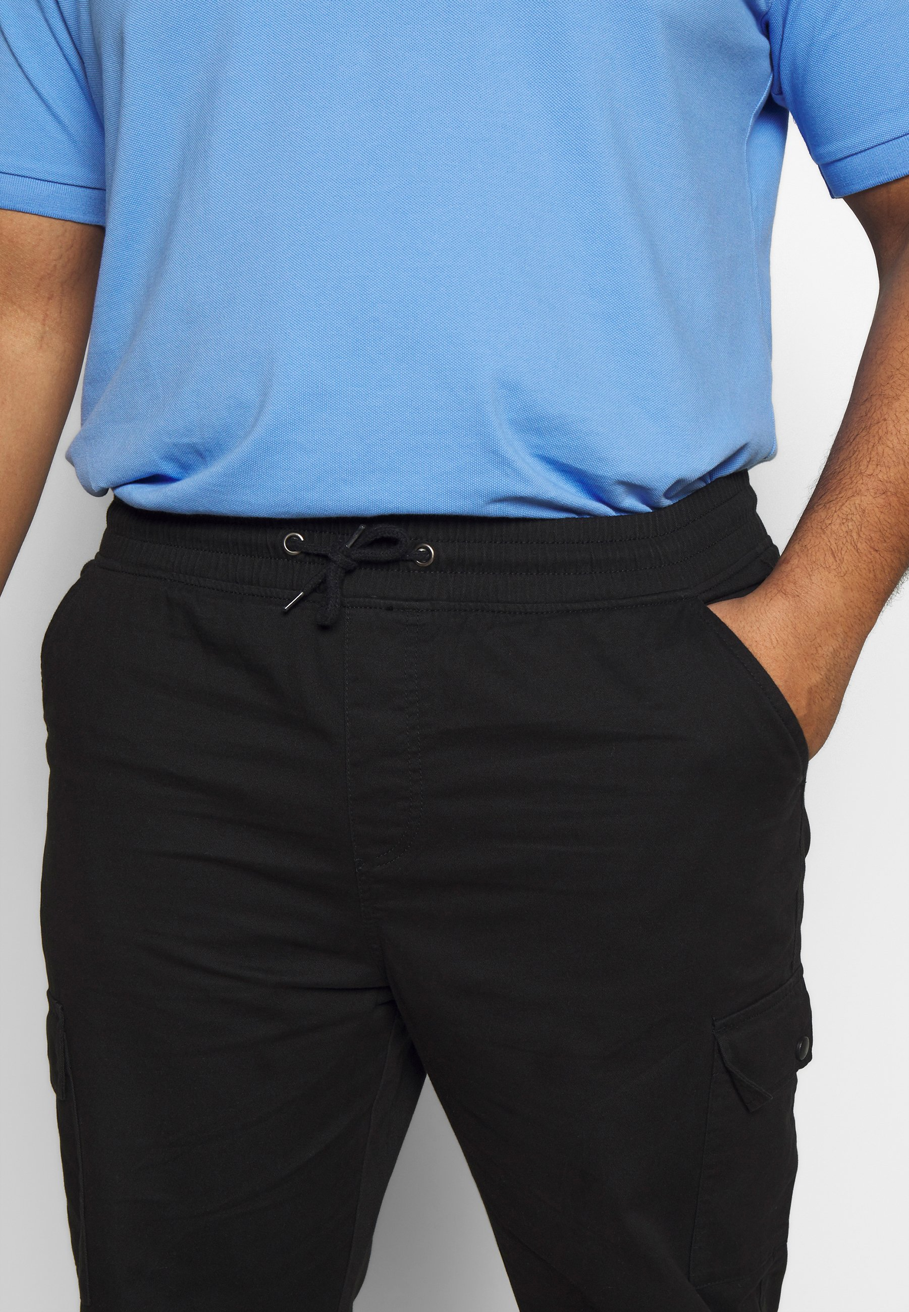 Another Influence Utility Pants In Plus - Cargobyxor Black