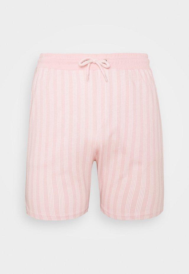 VERTICAL STRIPE - Kraťasy - pink/white