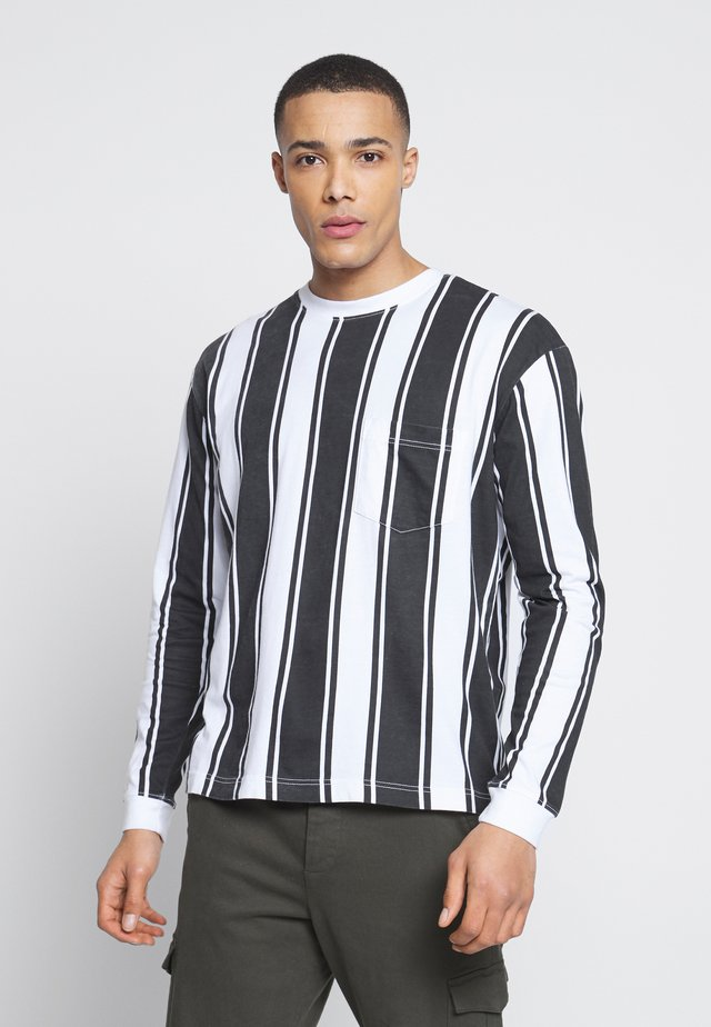 LONG SLEEVE IN VERTICAL STRIPE - Langærmede T-shirts - grey/white