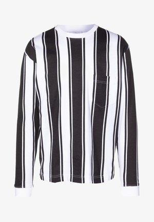 LONG SLEEVE IN VERTICAL STRIPE - Bluzka z długim rękawem - grey/white