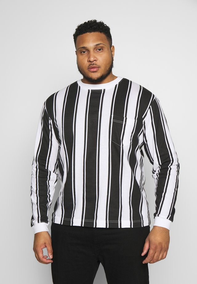 VERTICAL STRIPE PLUS - Long sleeved top - grey/white