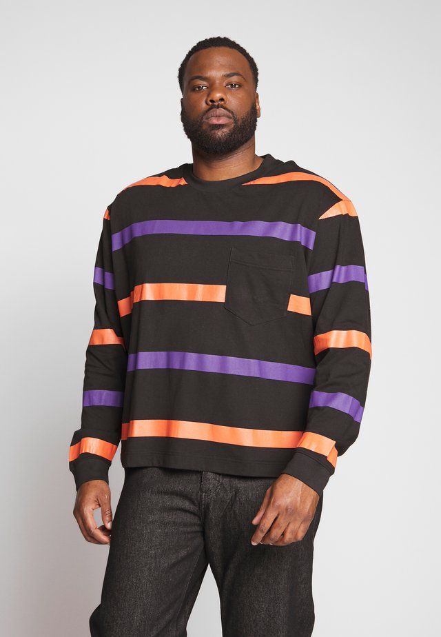 STRIPE PLUS - Long sleeved top - black/multi