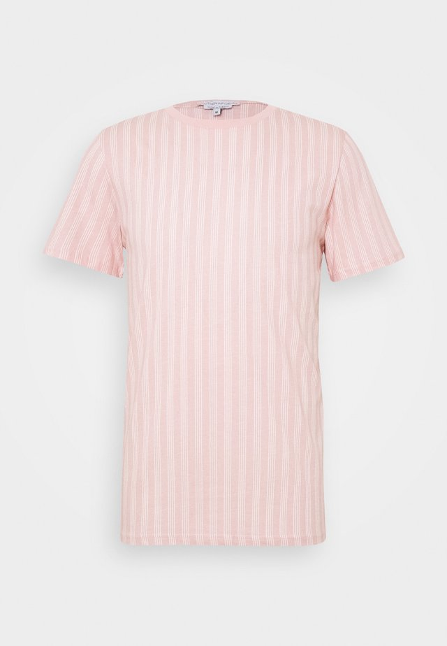 VERTICAL STRIPE - T-shirts basic - pink/white