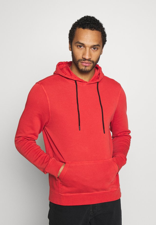 HOODIE WITH CONTRAST TRIMS - Luvtröja - salmon