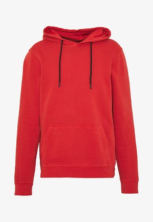 HOODIE WITH CONTRAST TRIMS - Mikina s kapucí - salmon