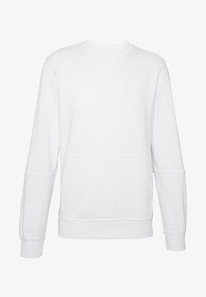 CREW NECK WITH POCKET - Collegepaita - white