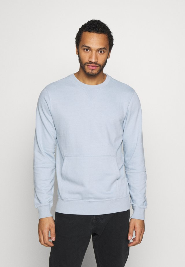CREW NECK WITH POCKET - Sweatshirt - sky blue