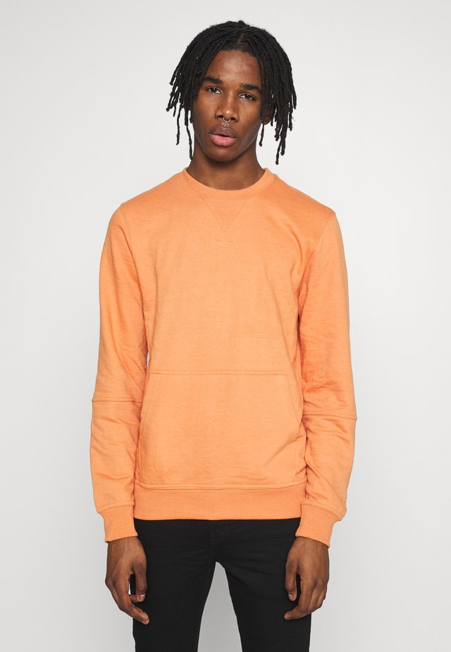CREW NECK WITH POCKET - Sweatshirt - rust