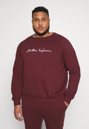OVERSIZED SIGNATURE - Felpa - burgundy