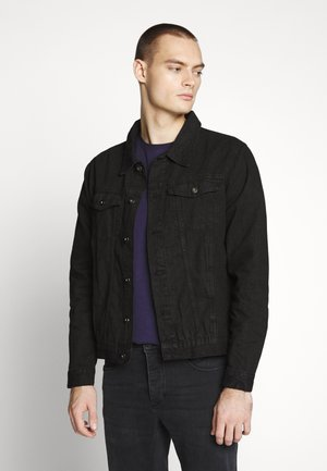 SLIM FIT JACKET - Farkkutakki - black