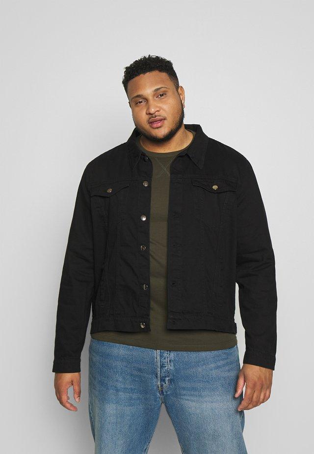SLIM FIT JACKET - Denim jacket - black
