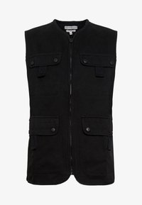 Another Influence - UTILITY GILET - Smanicato - black - 3