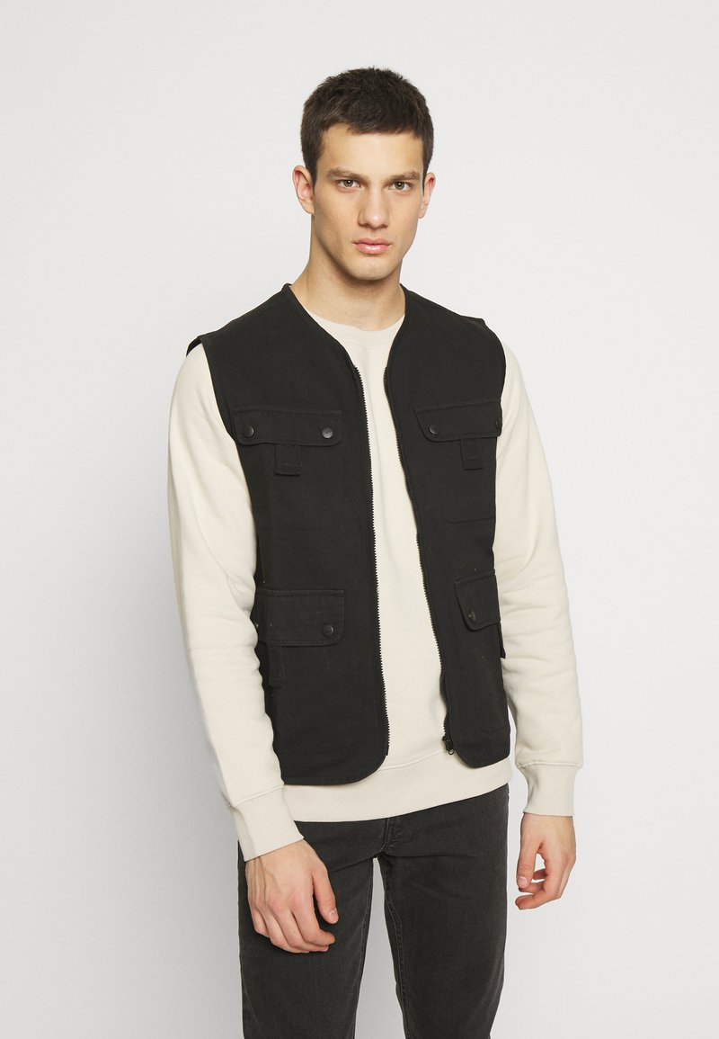 Another Influence - UTILITY GILET - Smanicato - black