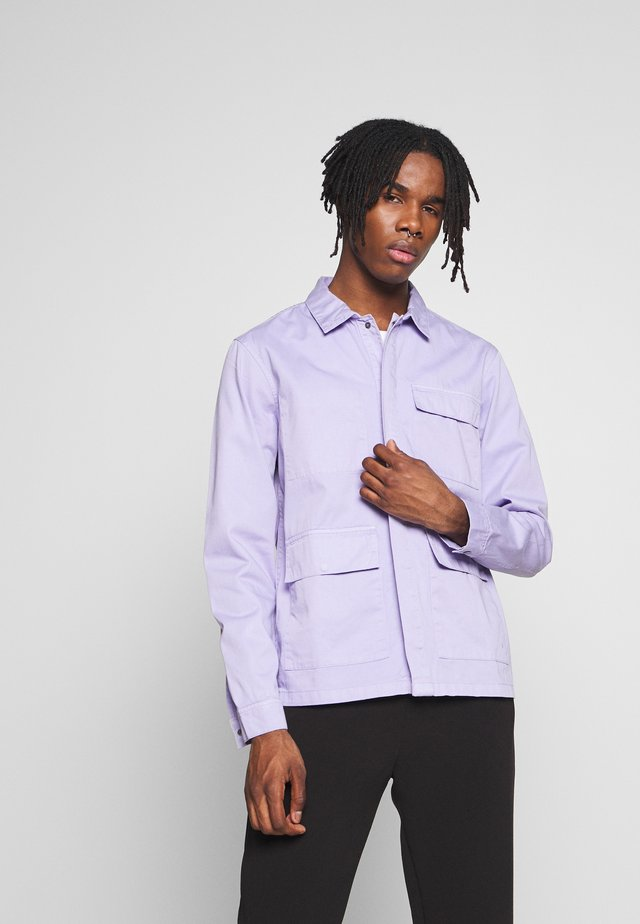 WORKER JACKET - Jeansjacka - light lilac