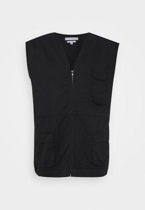 ANOTHER INFLUENCE PLUS UTILITY VEST  - Waistcoat - black