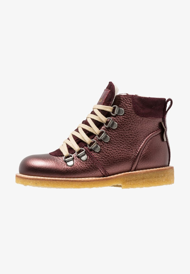 ANGULUS - TEX BOOT ZIP AND LACE - Schnürstiefelette - bordeaux shine