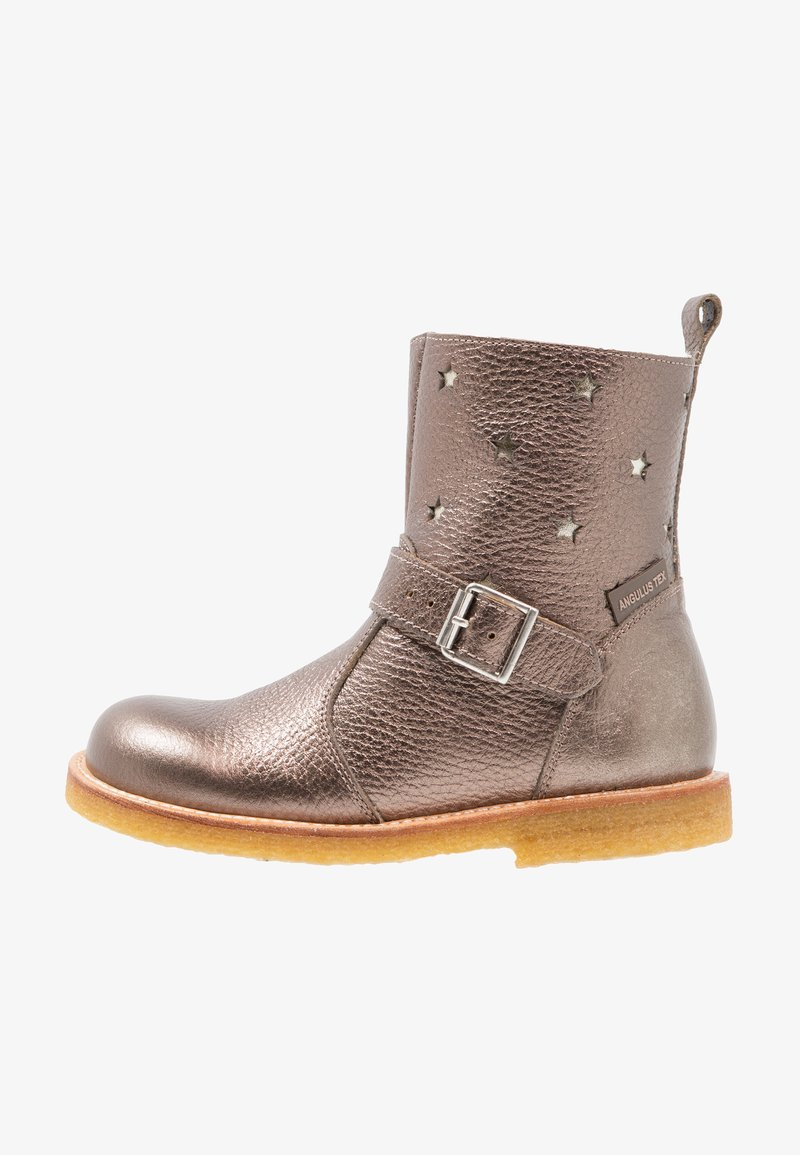 ANGULUS - TEX-BOOT WITH ZIPPER - Cowboy/biker ankle boot - bronze/champagner/grey/brown
