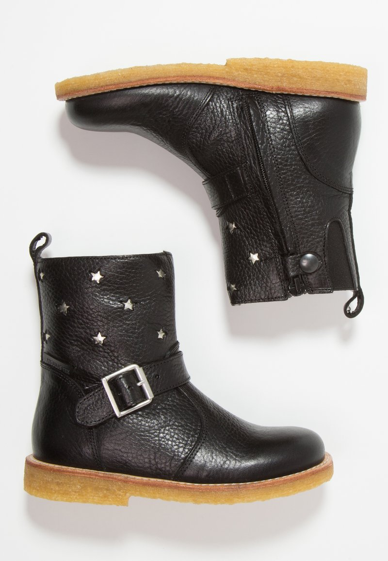 ANGULUS - TEX-BOOT WITH ZIPPER - Cowboy-/Bikerstiefelette - black/champagne