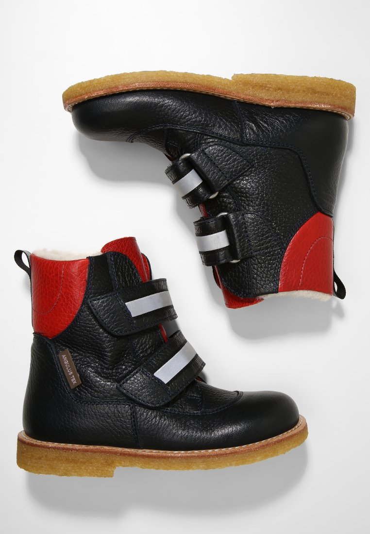 ANGULUS - TEX - Stiefelette - navy/dusty red